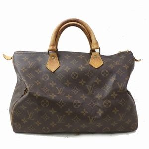 Auth Louis Vuitton Speedy 35 Satchel #1489L15